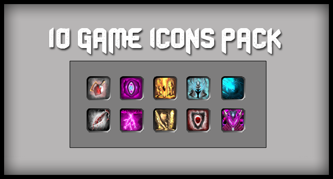 10 Free Game Icons Pack by MAND4Drawings
