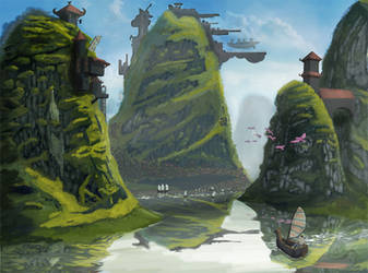 Landscape Concept Art by Mattlin
