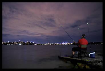 Sunset Fisherman II by psyfre