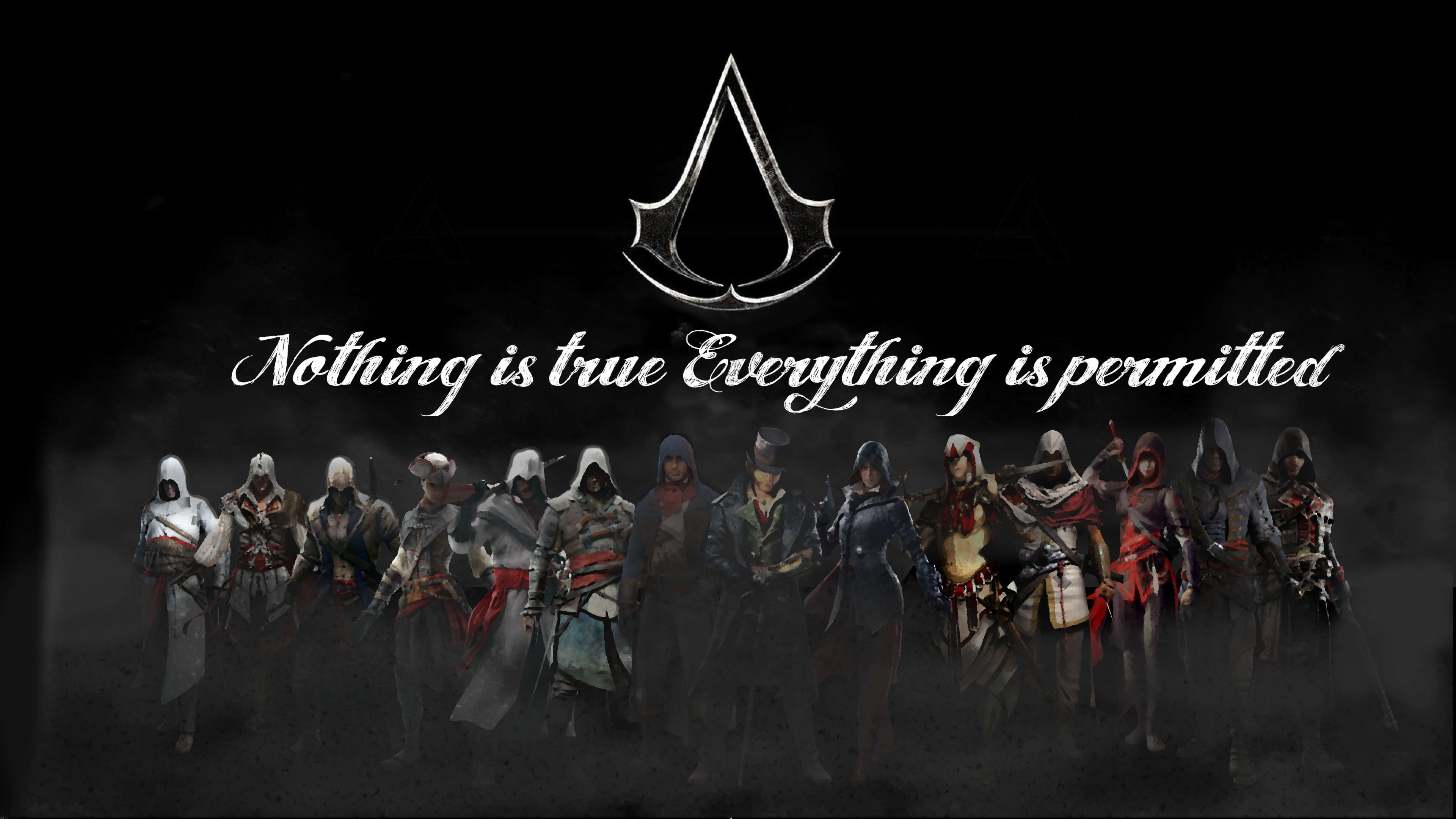 Assassins Creed Logo Wallpaper Nothing Is True Everything Permitted For Kids
