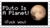 Pluto Is A Planet Stamp by Raquel71558