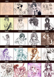 Line Art from 1992-2010 by Pearlpencil