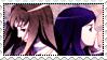 Shizuru x Natsuki stamp by Lilaccu