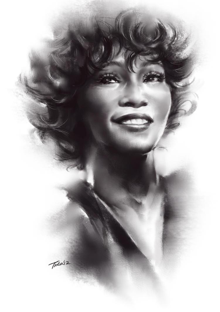 whitney black white. Plain White Whitney Houston Some Artistic Tributes To Black White
