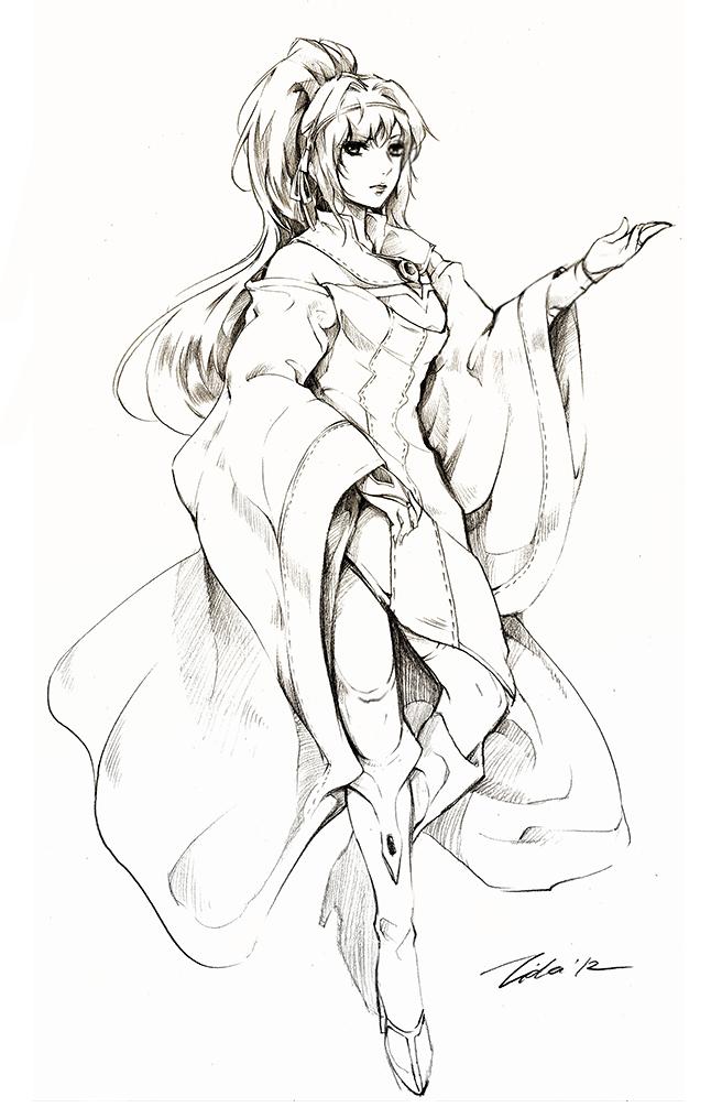 Scholar Cecilia by Lilaccu