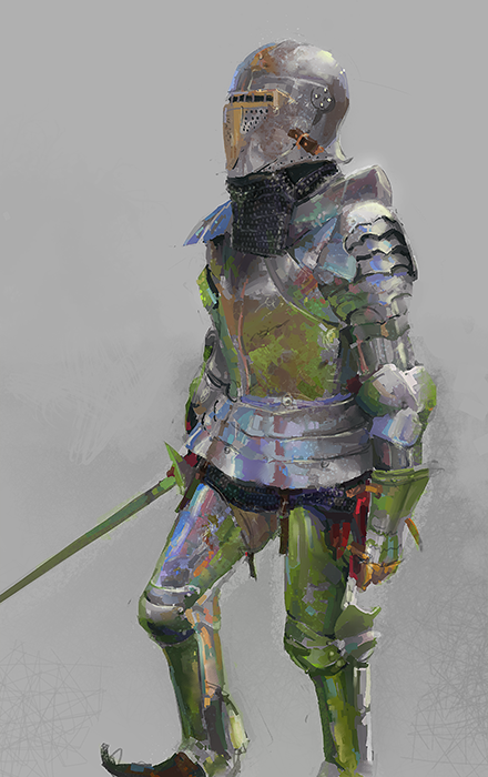 Practice Armor texture and reflection by Feohria