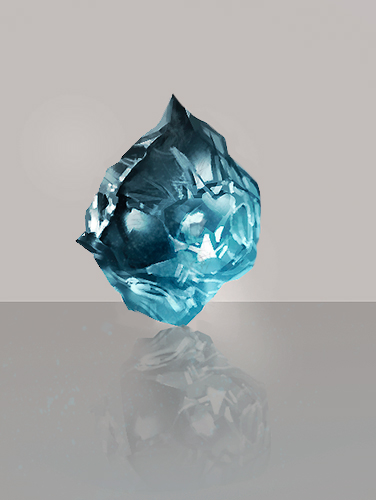 Piece of crystal - practice by Lilaccu