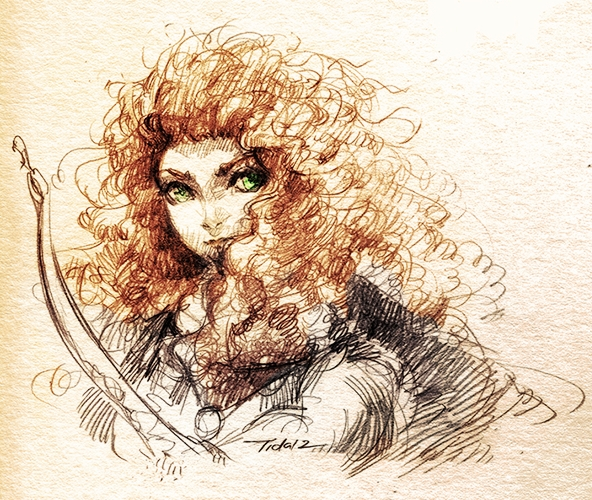 Sketch of Brave by Feohria