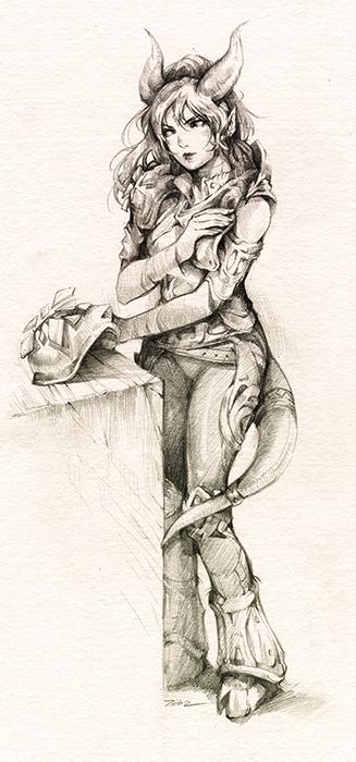 The Draenei Daia by Lilaccu