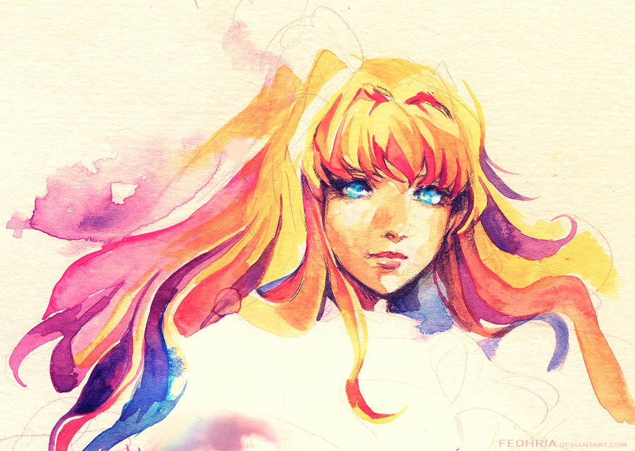 Sheryl water colour sketch by Feohria