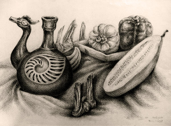 Still life drawing since 2003 #2 by Pearlpencil