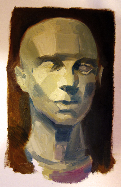 Oil painting head study by Feohria