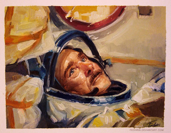 Oil painting - Chris Hadfield by Feohria