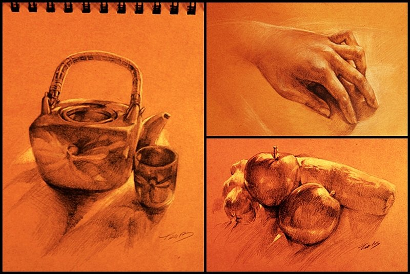 30mins-1hour drawing study by Feohria