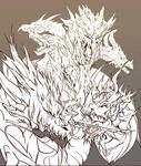 Orochi line sketch