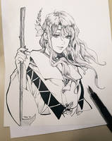 The Fool Inktober day 1 by Pearlpencil