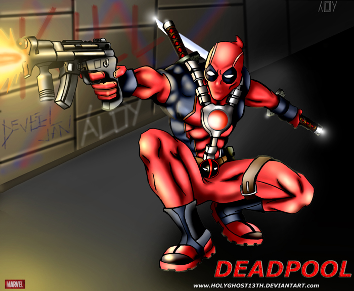 DeadPool by holyghost13th