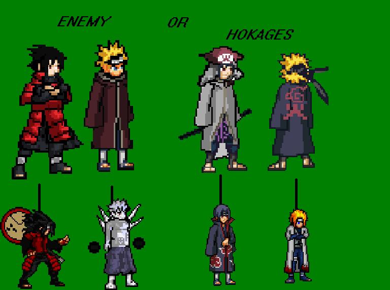 Susanoo Sprite: Naruto And Sasuke Hokage Sprite By TheApprentice1 On