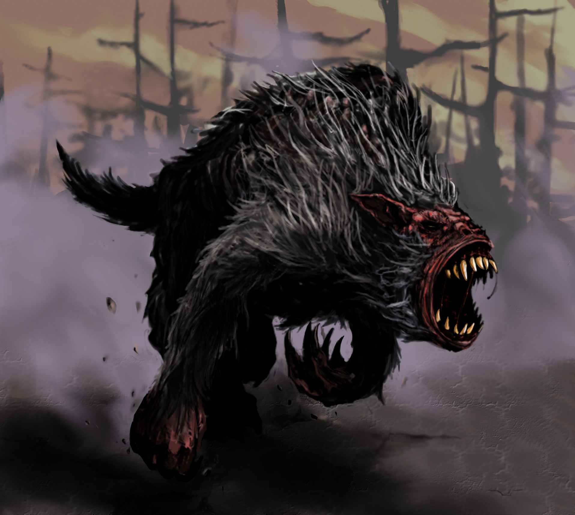 Barghest Charge by thatDMan