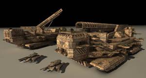 Magnetic Railgun Artillery
