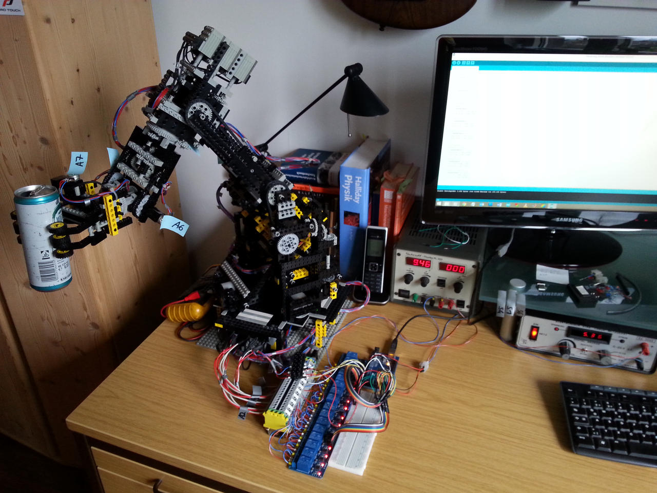 Arduino Controlled 6 Axes Lego Robot By Hausmann On Deviantart