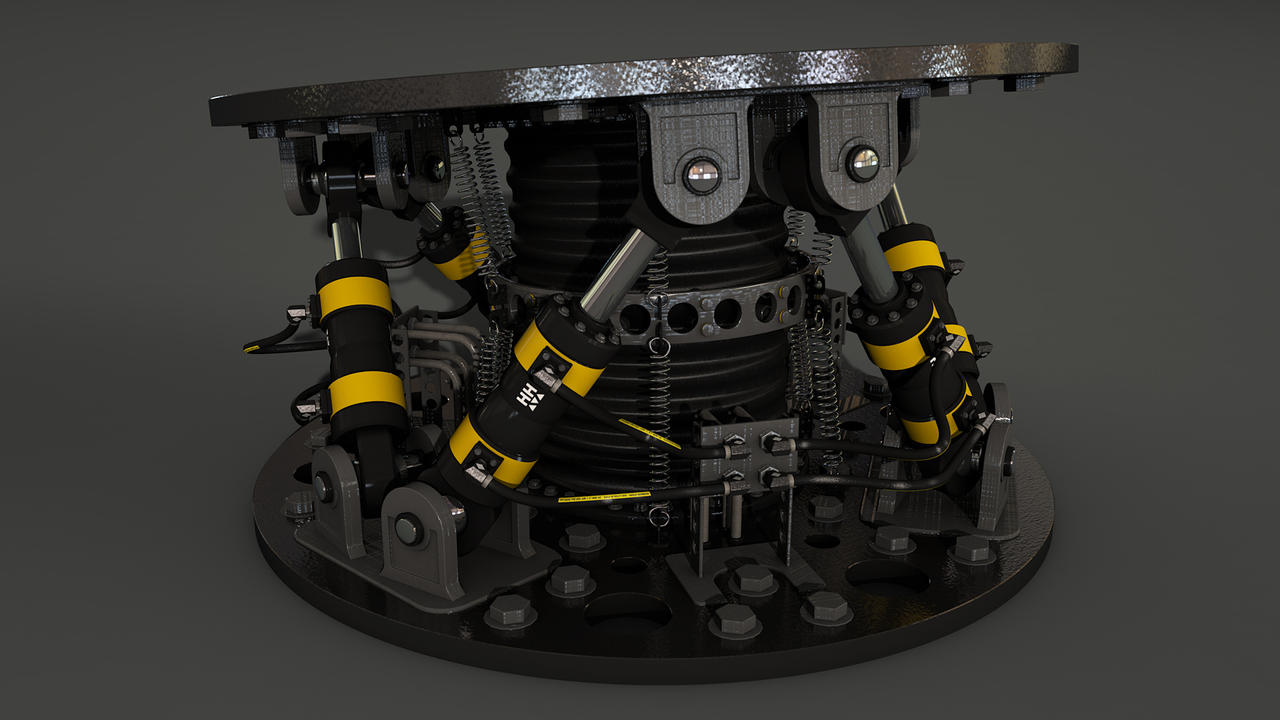 Hexapod textured by Hausmann