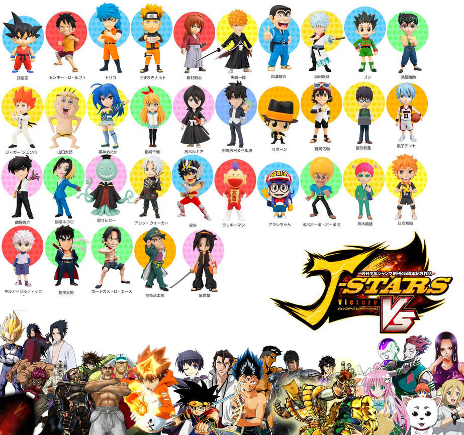 J-Stars Roster And Unused Characters (3/28/2014) By