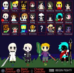 Fake Dimension Wars Chibi Character Select by TalonArtsdA