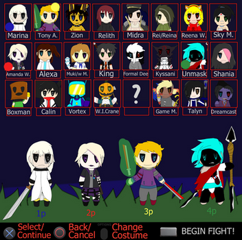 Fake Dimension Wars Chibi Character Select by TalonArtsdA