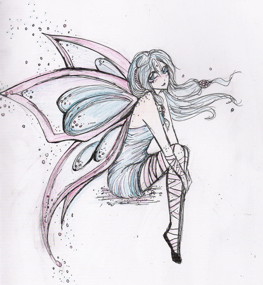 fairy wings side view drawings