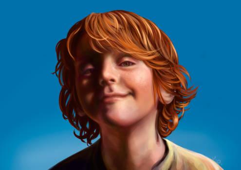 Ginger Boy Smiling