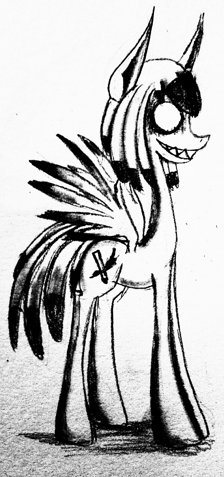 Tim Burton styled Artsen Raven Brave by WhiteNoiseGhost