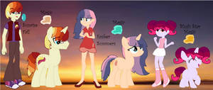 MLP Sunrise Fall,Ember Summers, and Blush Star by HuskyRBTorchick