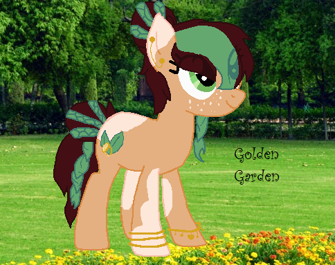 mlp golden gardendigital by huskyrbtorchick - Golden Garden