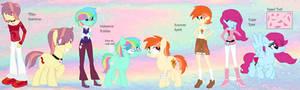MLP Titi, Bubbles, Summer, and Rose( Digital) by HuskyRBTorchick