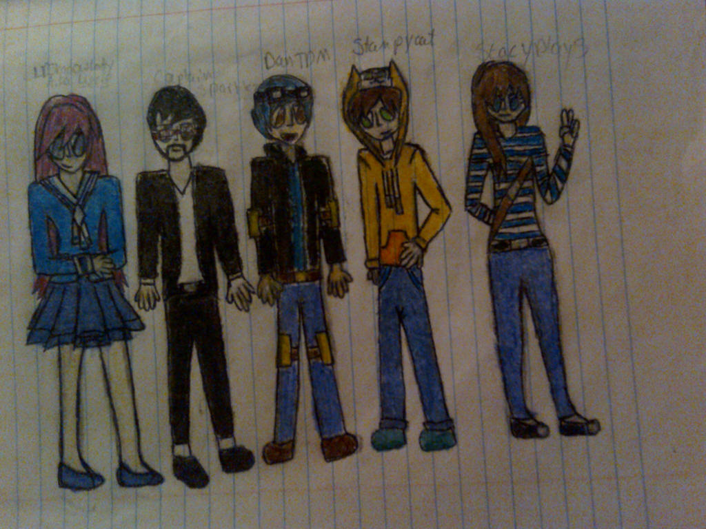 Mcsm youtubers from ep 6  by Aphmaufan1321