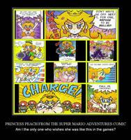 Princess Peach from the Super Mario Adventures by Darkmegafan01