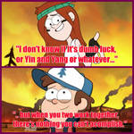 Wendy with some words for Dipper
