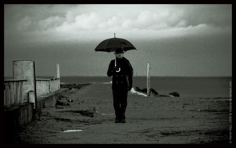 man with umbrella 2 by kotjara on deviantart