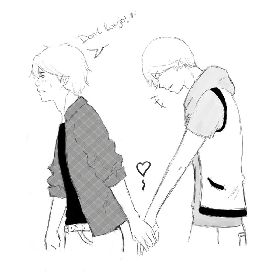 Day 1 - Holding Hands by Hinode-Toma