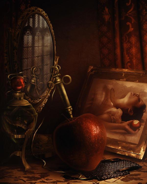 Still life for Snow white by LiliaOsipova
