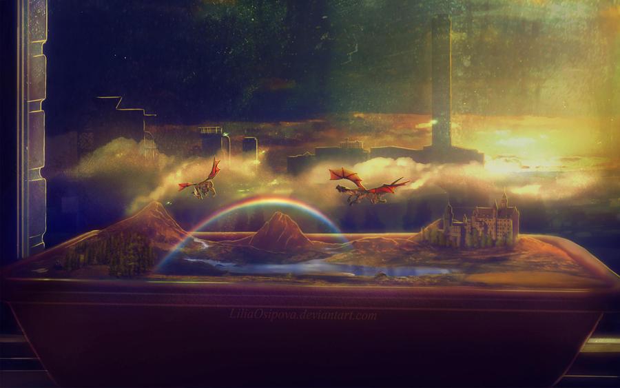 Two Worlds by LiliaOsipova