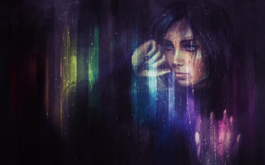 Neon Rain by LiliaOsipova