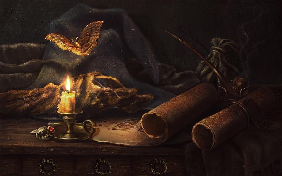 Gandalf's still life by LiliaOsipova
