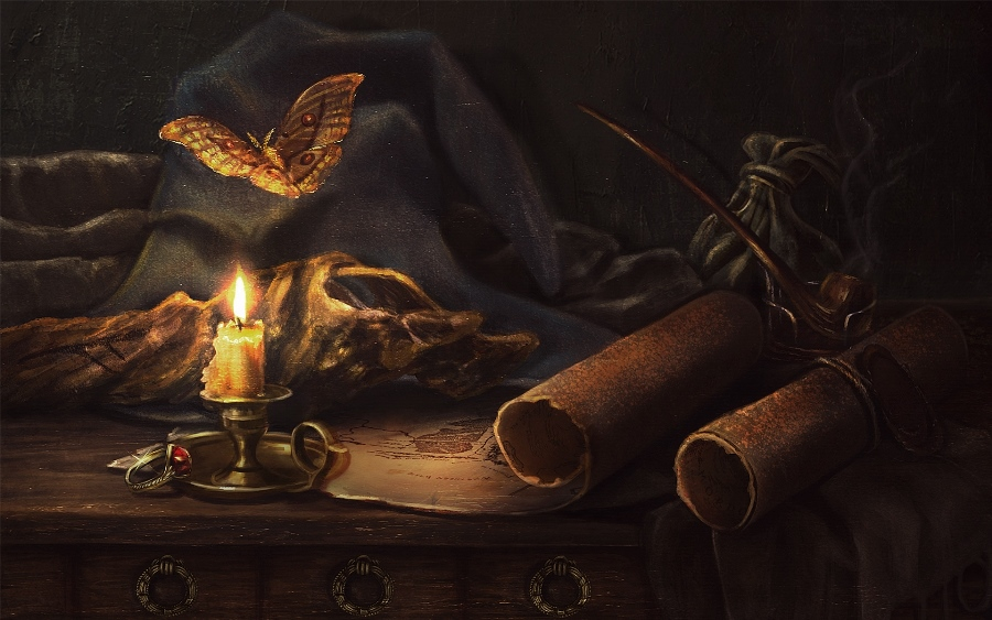 Gandalf's still life by Incantata