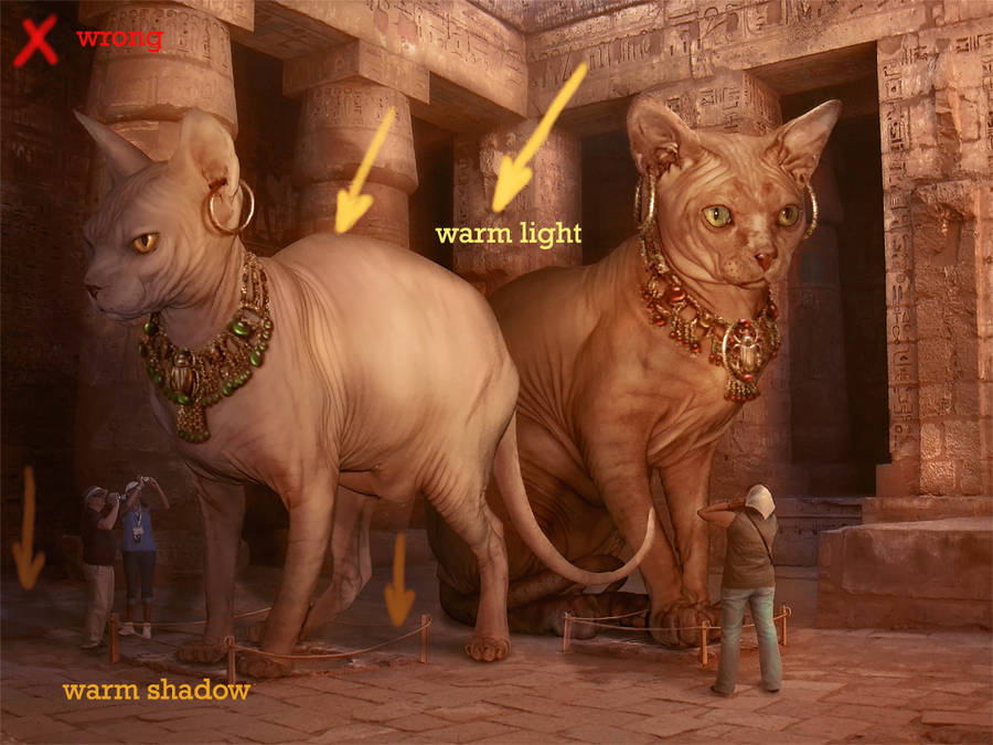 Bastet and Sekhmet Museum 4 by Incantata