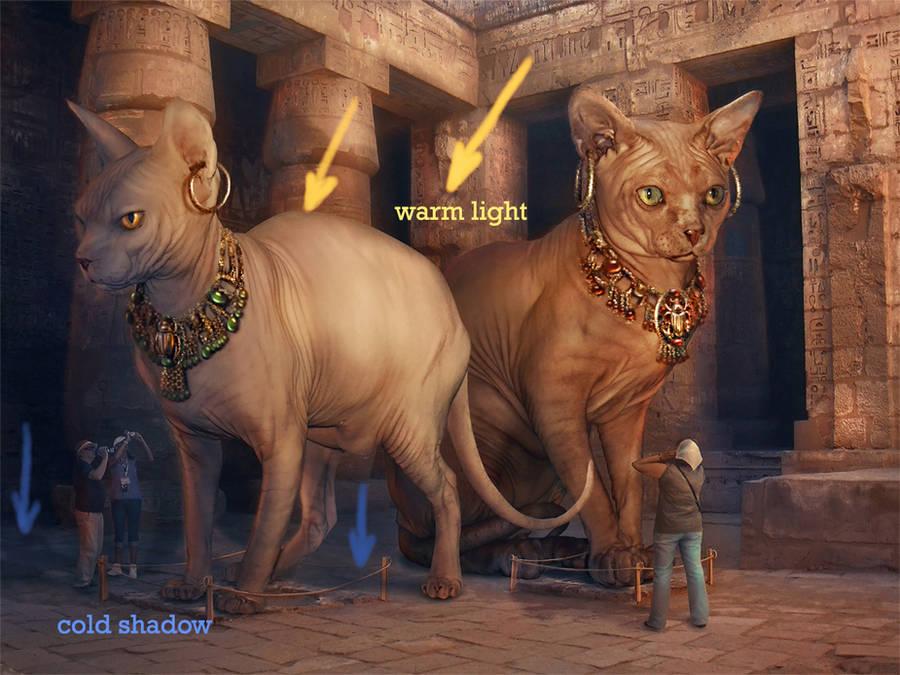Bastet and Sekhmet Museum 5 by Incantata