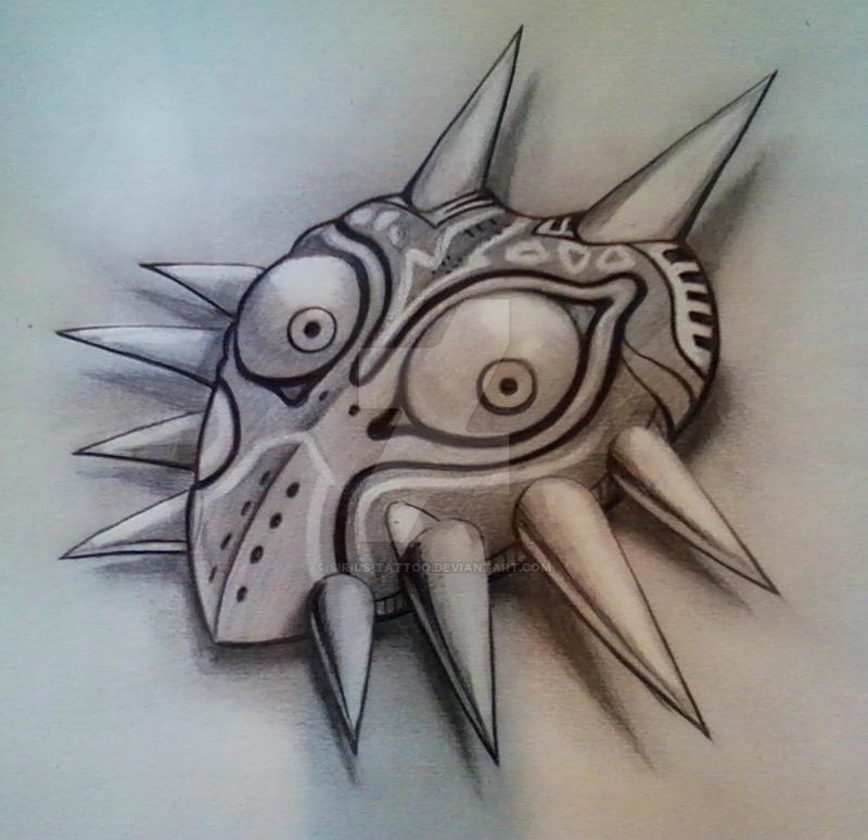 Majora's Mask In graphite by Sirius-Tattoo on DeviantArt