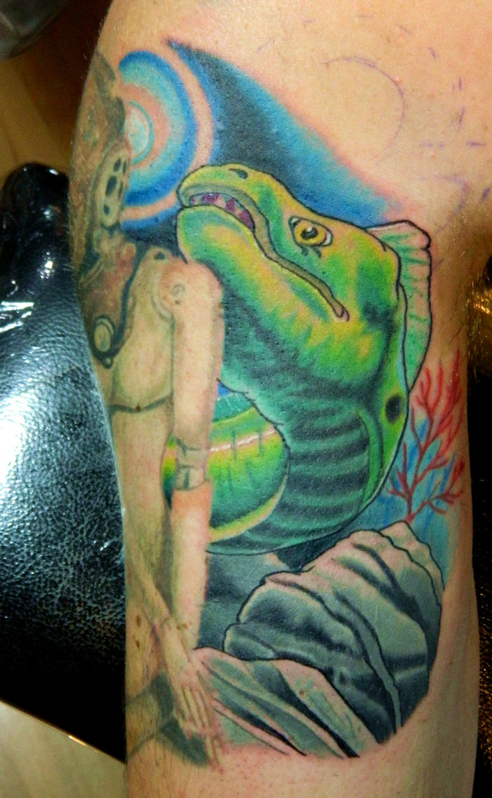 Brian's Moray Eel by Sirius-Tattoo