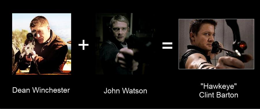 Dean + John = Hawkeye by Kurisuten-tan